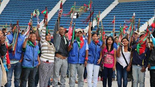 2000 indígenas llegan a Bogotá para reactivar minga del 2008